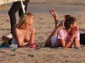 Stella Maxwell Boob Slip During Photoshoot on the Beach
