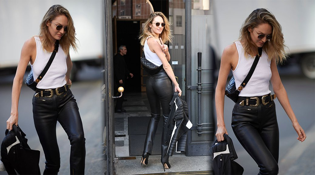 Candice Swanepoel - Braless Candids in Milan