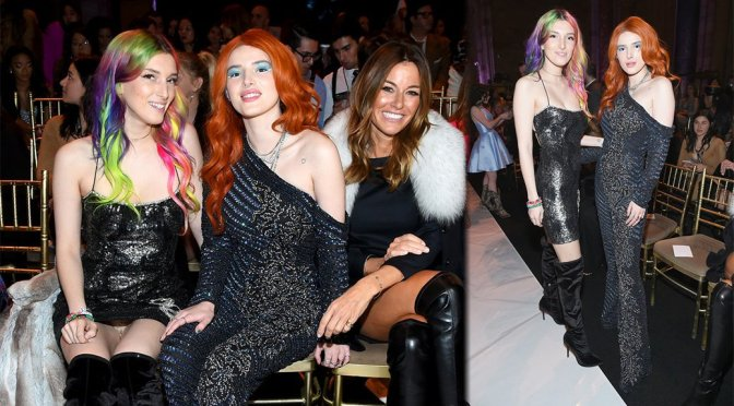 Bella & Dani Thorne – Sherri Hill Fashion Show in New York
