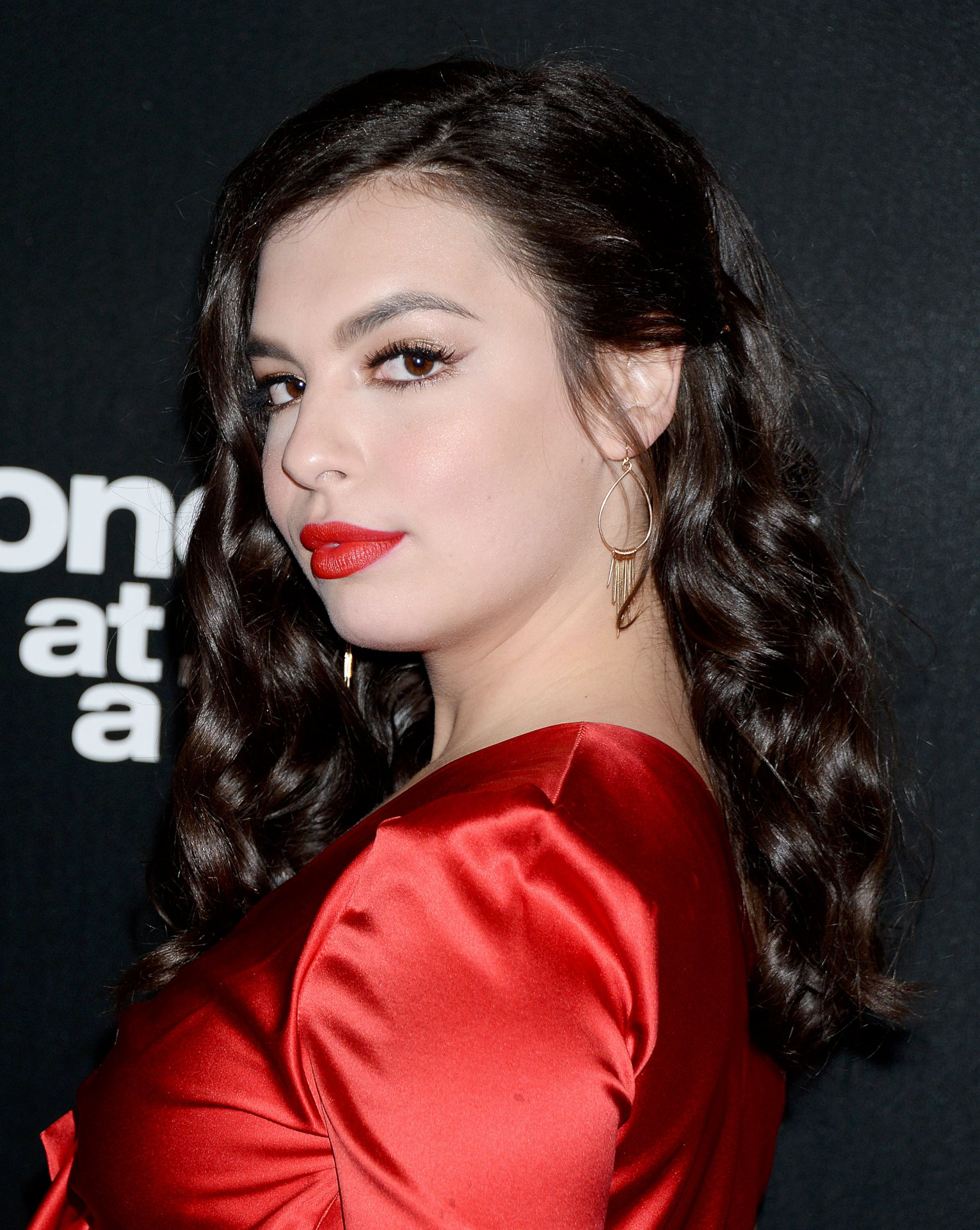 Isabella Gomez Beautiful In Red Dress