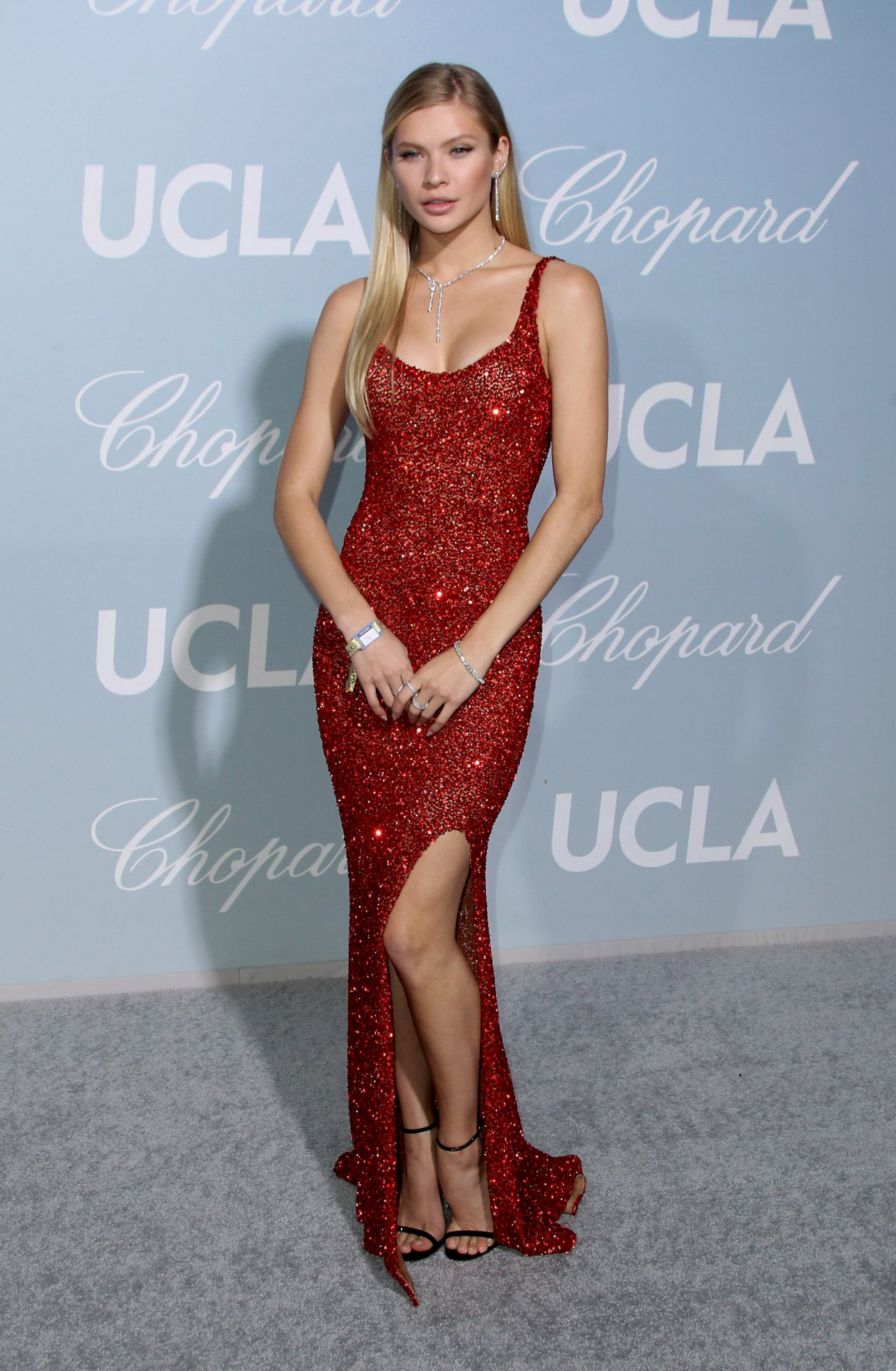 Josie Canseco Sexy In Red Dress
