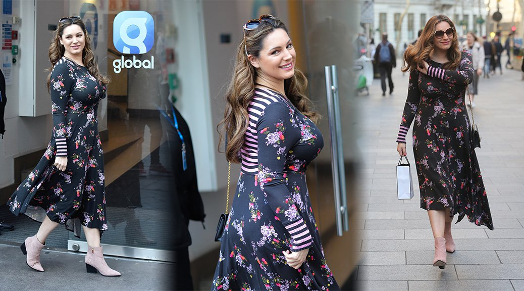 Kelly Brook - Busty Candids in London