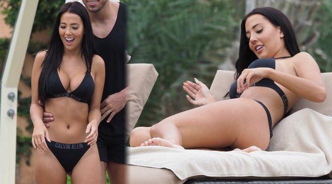 Yazmin Oukhellou Sexy Body In Black Bikini