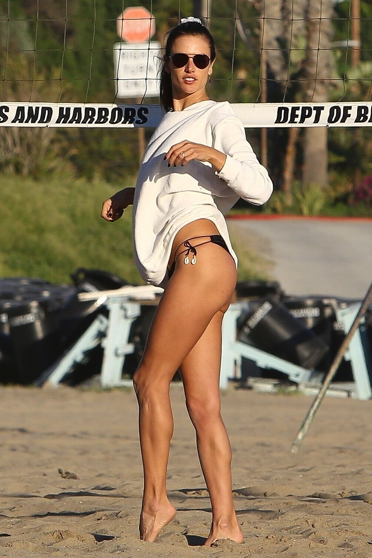 Alessandra Ambrosio Sexy Little Bikini