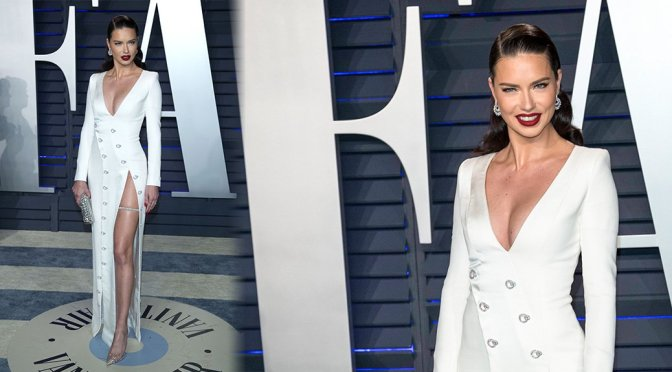 Adriana Lima – 2019 Vanity Fair Oscar Party in Beverly Hills