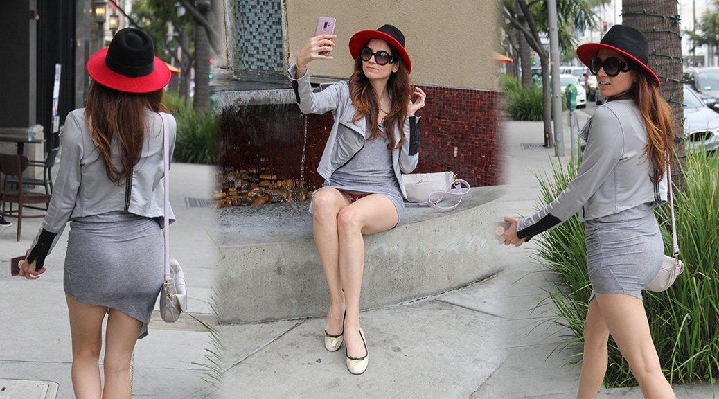 Blanca Blanco - Upskirt Candids in Beverly Hills