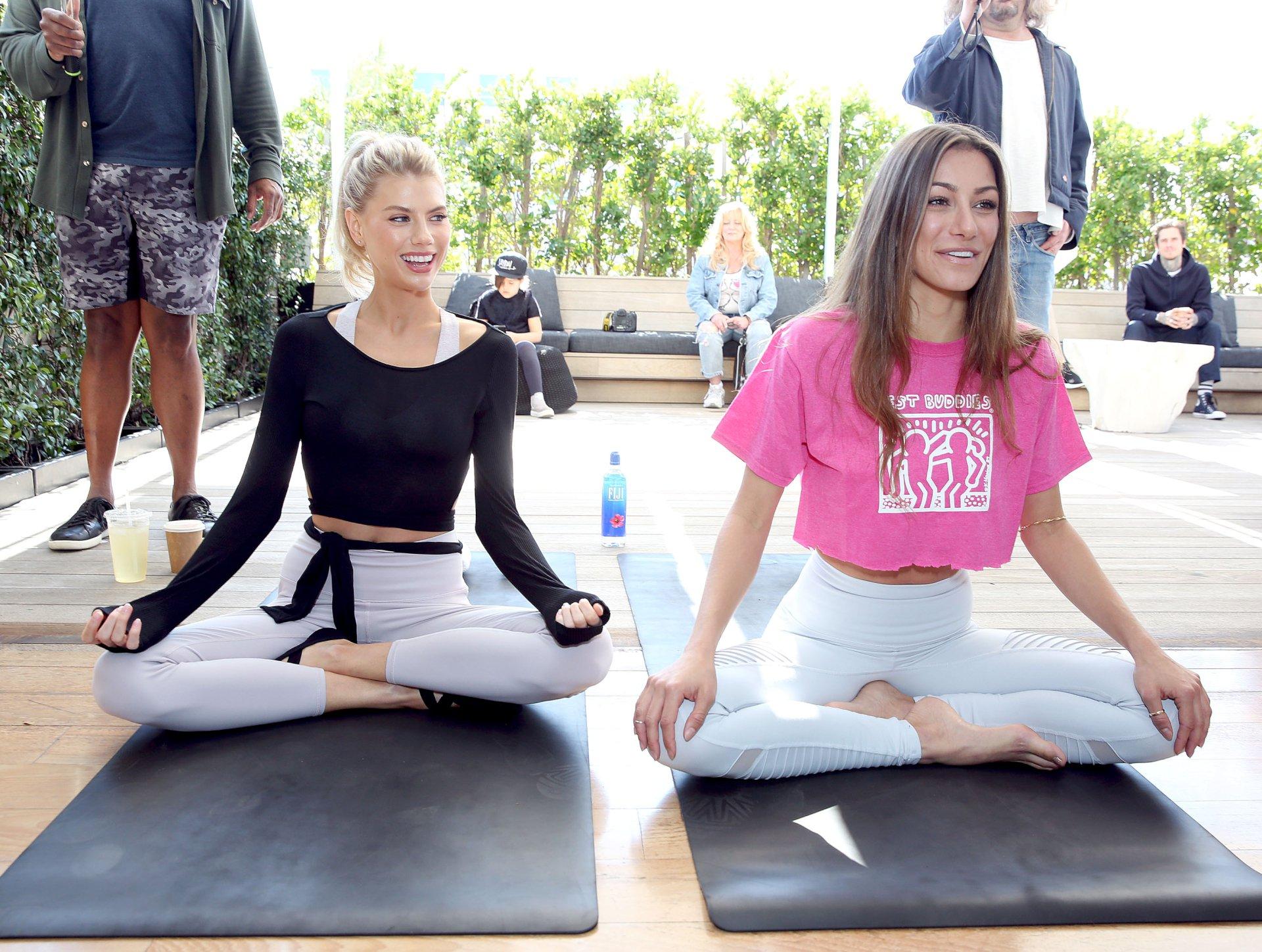 Charlotte Mckinney Sexy Yoga