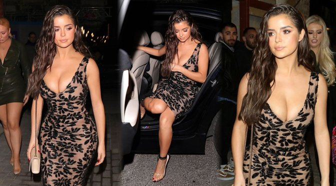 Demi Rose Mawby – Cleavage Candids in London