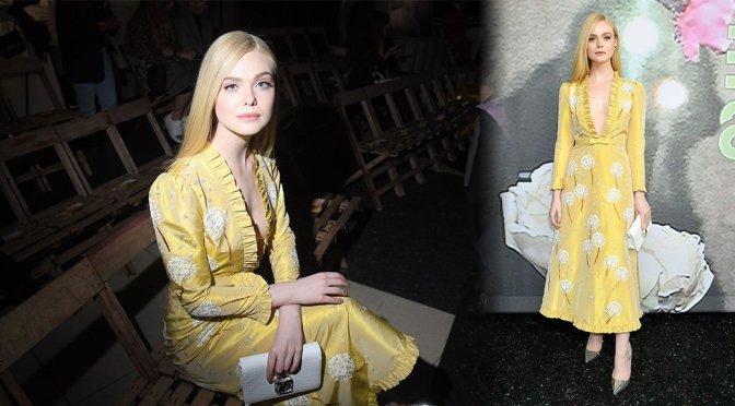 Elle Fanning – Miu Miu Fashion Show in Paris