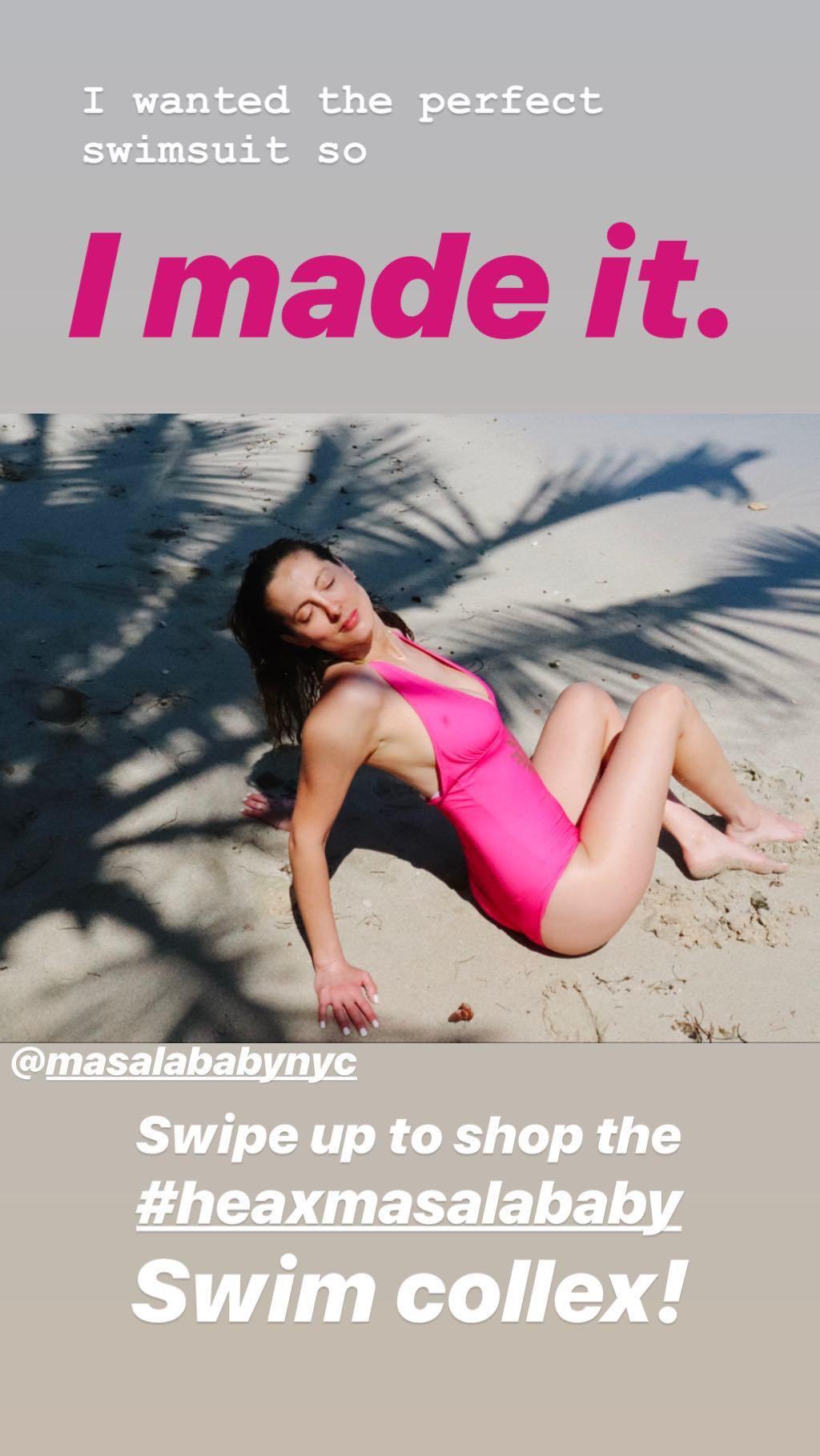 Eva Amurri Martino Big Boobs In Pink Swimsuit