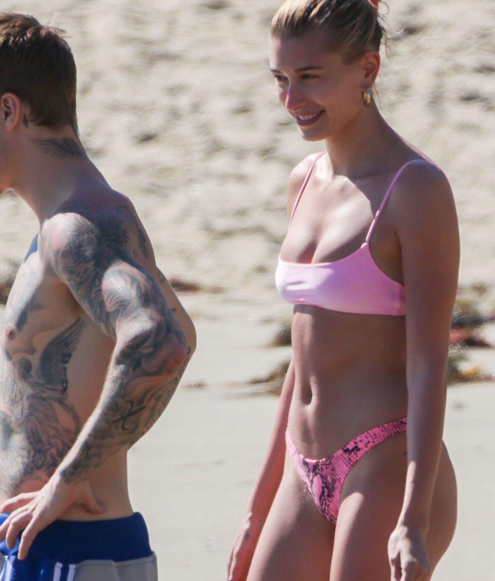 Hailey Baldwin Teeny Bikini