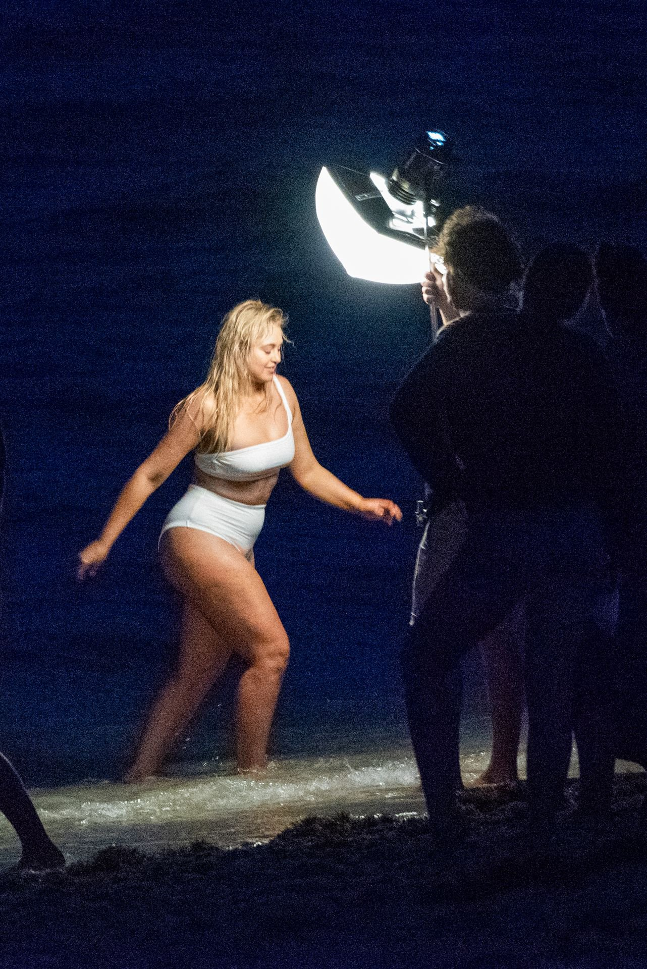Iskra Lawrence White Swimsuit