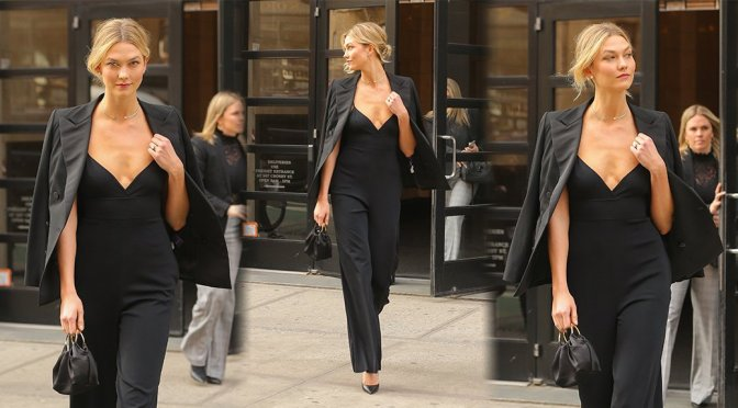 Karlie Kloss – Sexy Braless Candids in New York