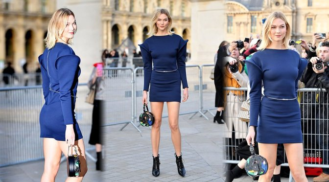 Karlie Kloss – Louis Vuitton Fashion Show in Paris
