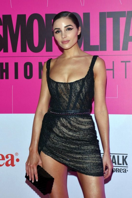 Olivia Culpo Leggy In Sexy Dress