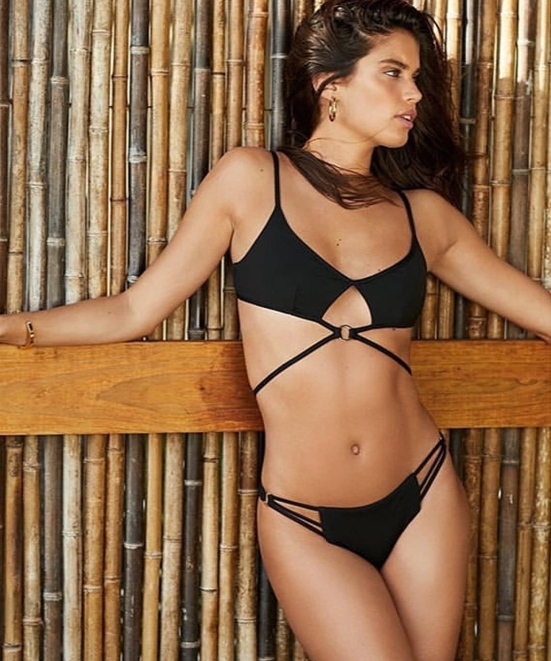 Sara Sampaio Black Bikini