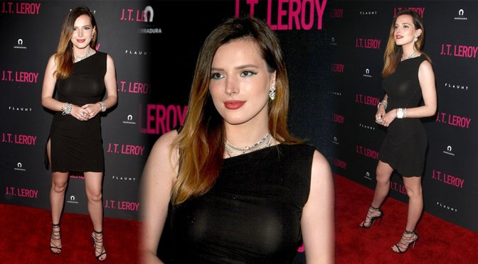 "Bella Thorne Braless at ""J.T. Leroy"" Premiere in Hollywood"