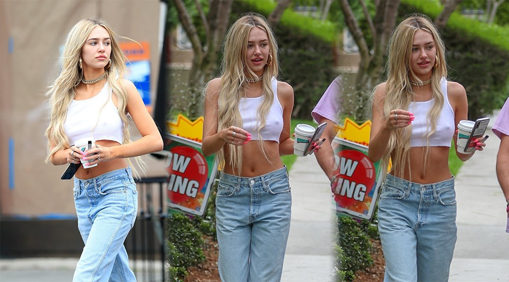 Delilah Belle Hamlin - Braless Candids in West Hollywood