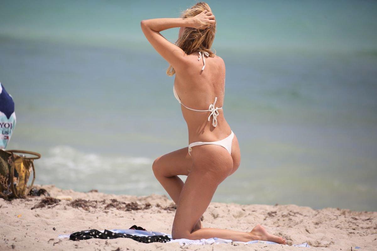 Kimberley Garner Sexy White Bikini