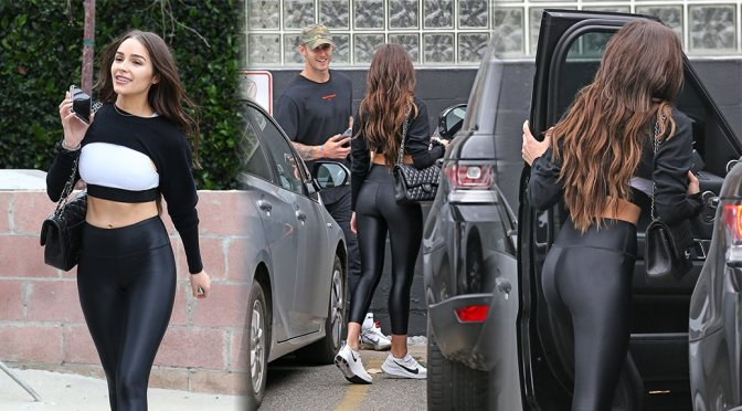 Olivia Culpo – Sexy Ass in Leather Pants in West Hollywood