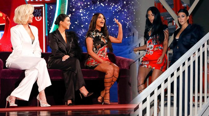 "Kim, Kourtney, & Khloe Kardashian on ""Jimmy Kimmel Live"" in Las Vegas"