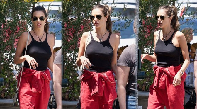 Alessandra Ambrosio – Braless Pokies in Los Angeles