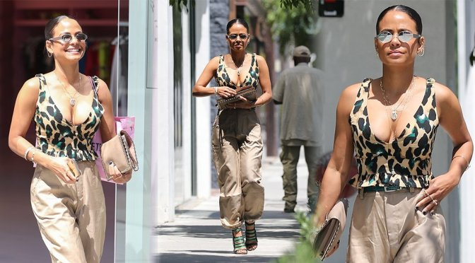 Christina Milian – Sexy Cleavage Candids in Los Angeles