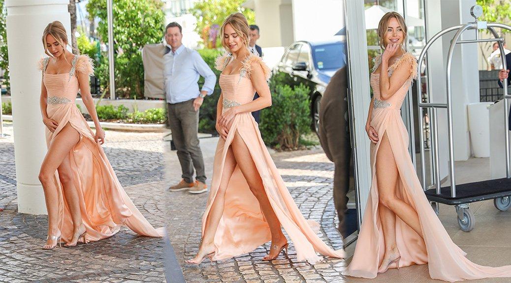 Kimberley Garner - Sexy Upskirt Candids in Cannes
