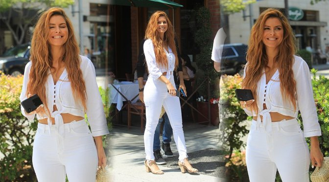 Maria Menounos – Sexy Candids at La Scala in Beverly Hills