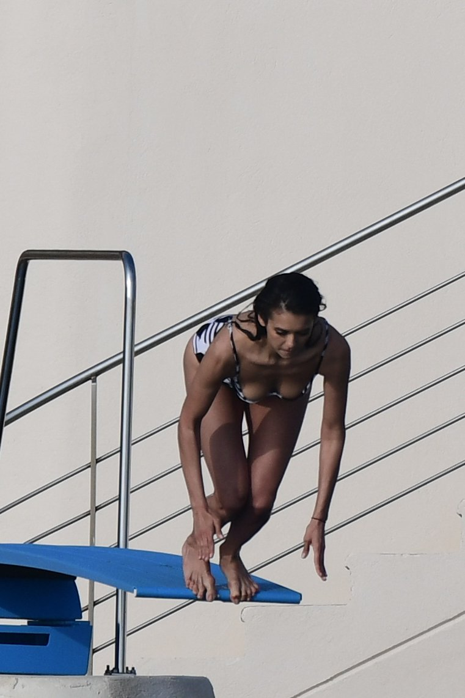 Nina Dobrev Sexy Swimsuit
