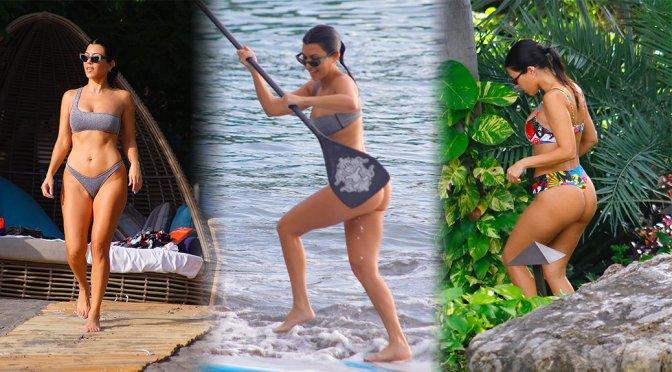 Kourtney Kardashian – Bikini Candids in Costa Rica