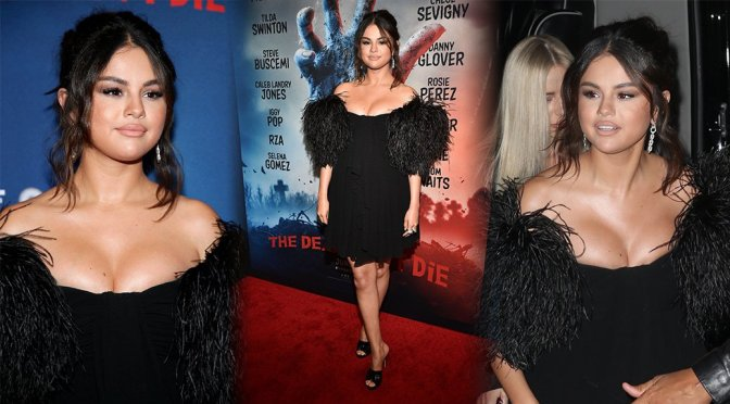 """Selena Gomez – Sexy Cleavage at """"THe Dead Don't Die Premiere"""" in New York"""