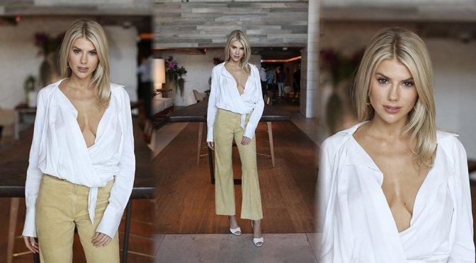 Charlotte McKinney – Braless Cleavage at 1 Hotel in Miami Beach