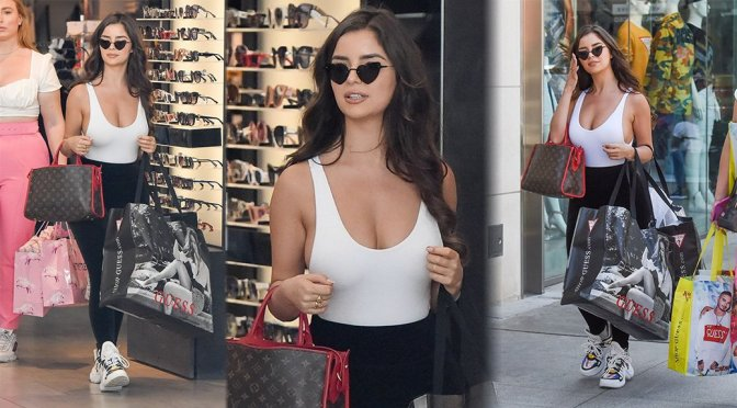 Demi Rose Mawby - Braless Candids in Beverly Hills