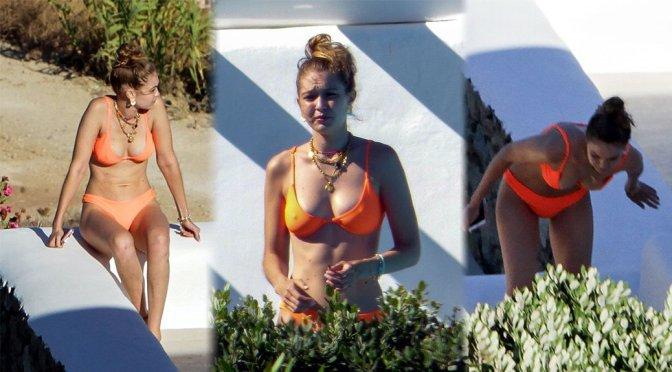 Gigi Hadid – Bikini Candids in Mykonos