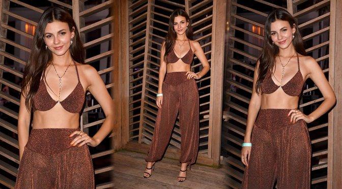 Victoria Justice – Badgley Mishka Swimwear 2020 Collection Runway Show in Miami