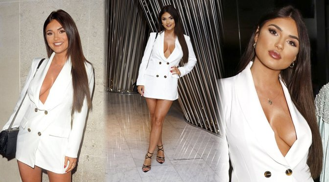 India Reynolds – Sexy Big Boobs at STK in London