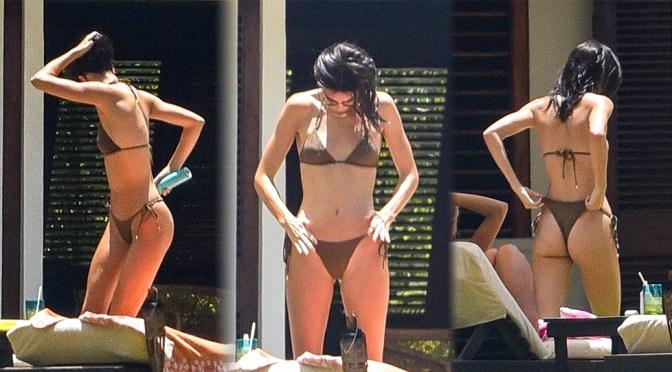Kendall Jenner and Hailey Bieber – Sexy Bikini Candids in Jamaica
