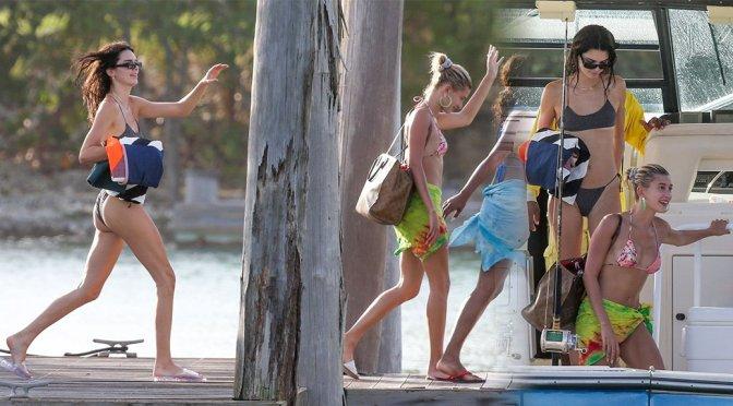 Kendall Jenner – Bikini Candids on a Boat in Jamaica
