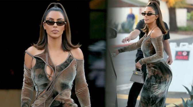 Kim Kardashian – Sexy Big Ass at La Plata Taqueria & Cantina in Agoura Hills