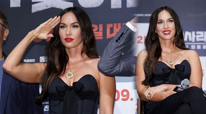 "Megan Fox – Sexy Cleavage at ""Battle of Jangsari"" Press Conference in Seoul"