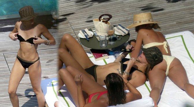Miley Cyrus – Bikini Candids in Lake Como