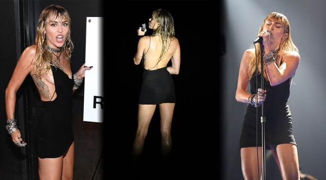 Miley Cyrus – performs Braless at 2019 MTV Video Music Awards