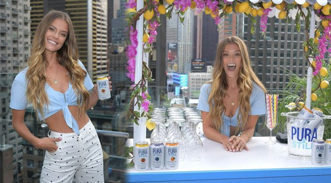 Nina Agdal – Sexy Cleavage at Sip On Summer with Pura Still for Aperitivo Tuesday in New York