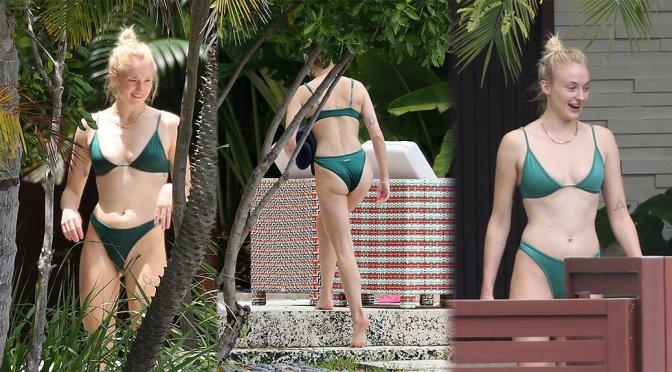 Sophie Turner – Bikini Candids in Miami