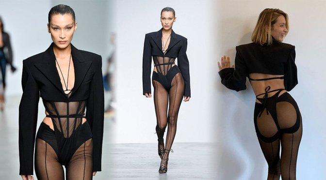 "Bella Hadid – Sexy Ass at ""Mugler"" SS20 Fashion Show in Paris"