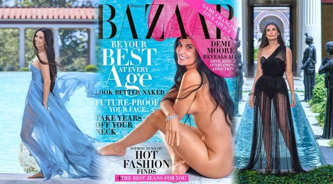 Demi Moore - Harper's Bazaar Magazine Photshoot (October 2019)