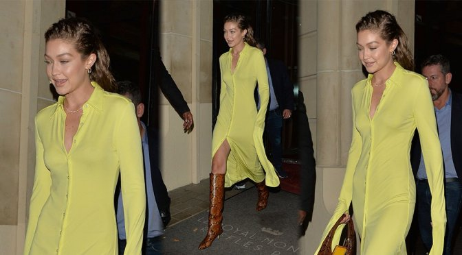 """Gigi Hadid – Sexy Candids at """"Fenty"""" After Party in Paris"""