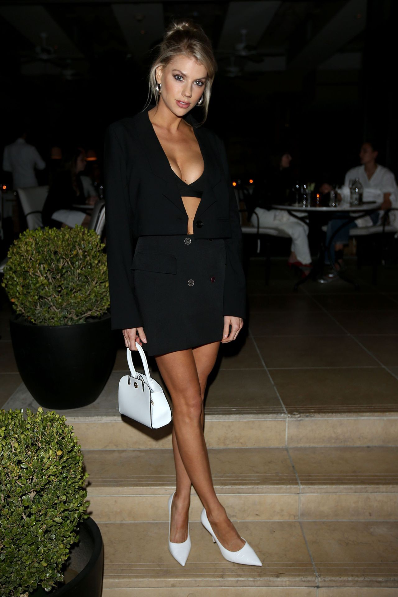 Charlotte Mckinney Sexy Cleavage And Legs