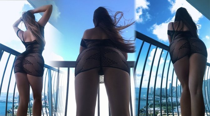 Claudia Romani – Sexy Big Ass in Lace Lingerie dress Photoshoot
